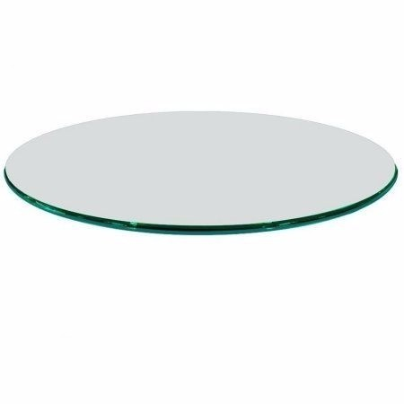 Tampo mesa redondo vidro incolor temperado 1m 8mm