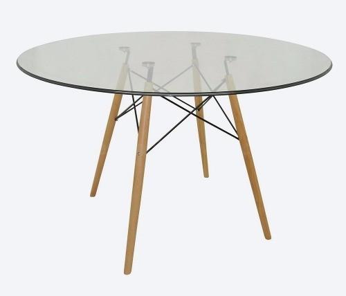 Tampo mesa redondo vidro incolor temperado 1,20m 8mm