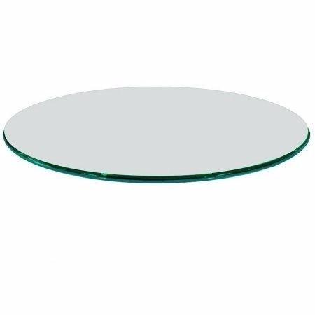 Tampo mesa redondo vidro incolor temperado 80cm 8mm