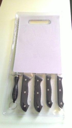 Jogo de facas com 7 peças churrasco Chef Western N-7