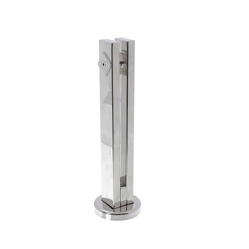 Torre vertical guarda corpo para vidro em aço inox 304 polido