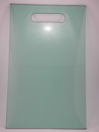 Tábua de vidro temperado  8mm lisa verde