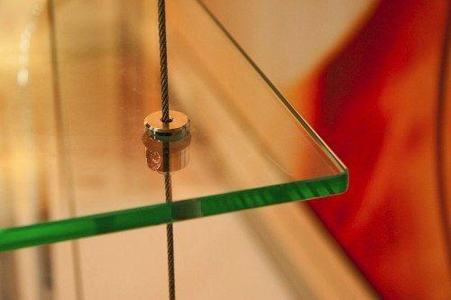 Cabo de aço 5m para prateleira suspensa de vidro ou madeira