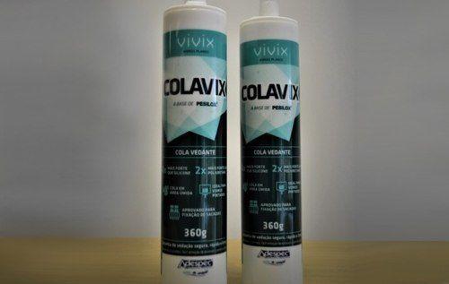 Cola Para Espelho e vidros Colavix 360gr branca