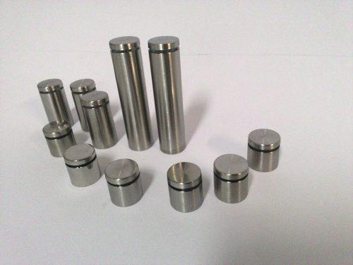 Prolongador de inox escovado 25x25mm - 4 unidades