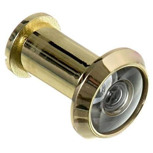 Visor Para Porta Olho Mágico Dourado para porta de madeira