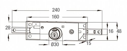 Fechadura para porta de enrolar 1201 Stam tetra