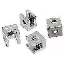 Suporte fenda quadrado para prateleira vidro 10mm - 100 unidades