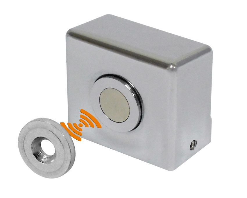 Fixador Magnético Amortecimento Para porta de vidro tipo Blindex