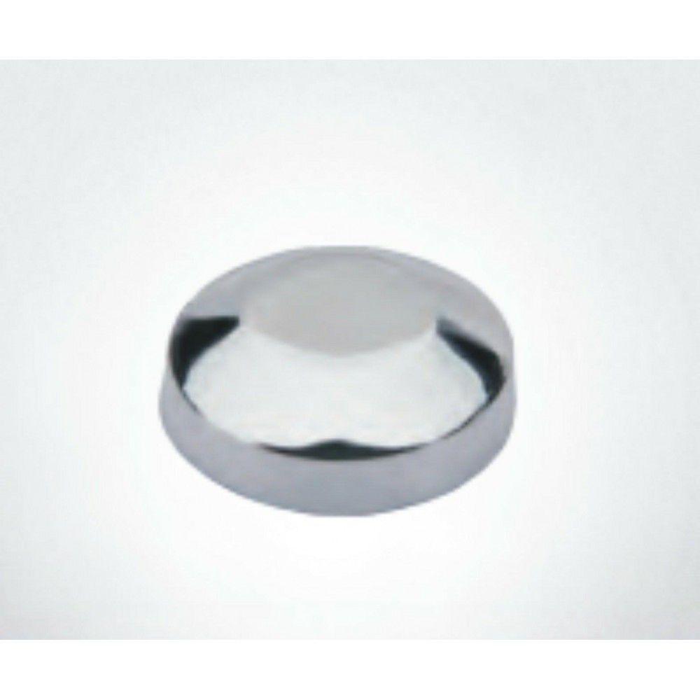 Botão rosca interna cabeça chanfrada metal - 10 unidades