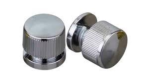 Botão francês em metal zamac cromado suporte para espelhos - 4 unidades
