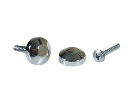 Botão rosca interna cabeça chanfrada metal - 100 unidades