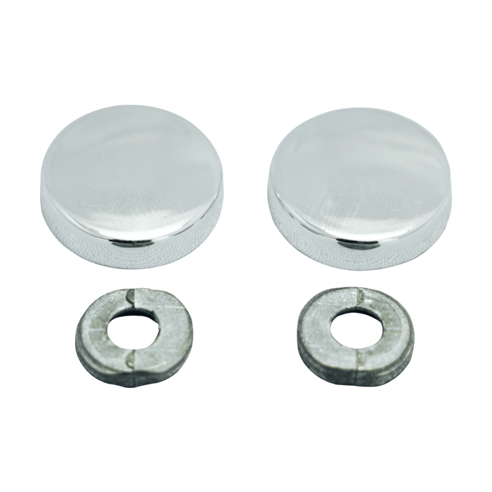 Botão rosca interna cabeça chata maciça metal - 100 unidades