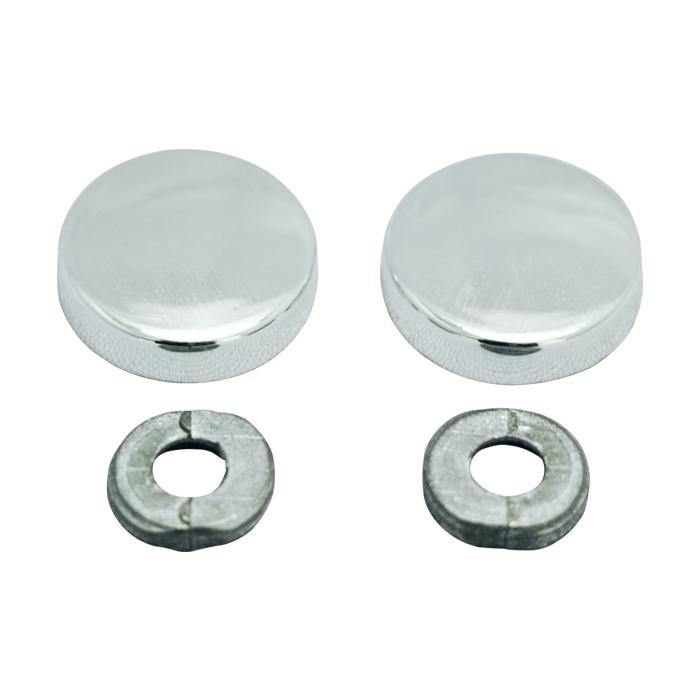 Botão rosca interna cabeça chata maciça metal - 500 unidades