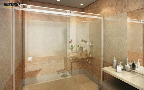 Box Light para Banheiro 1,90x1,00m 8mm Cromado