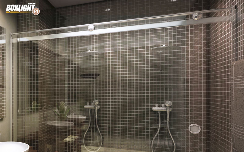 Box Light para Banheiro 1,90x1,20m 8mm Branco