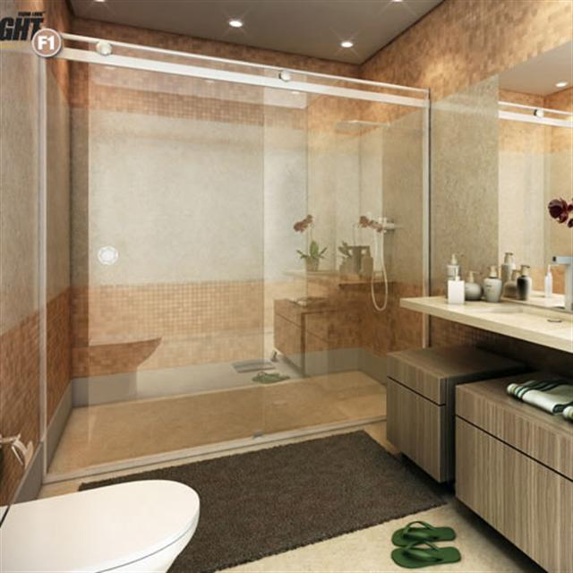Box Light para Banheiro 1,90x1,20m 8mm Cromado