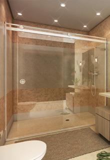 Box Light para Banheiro 1,90x1,40m 8mm Cromado