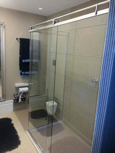 Box Light para Banheiro 1,90x1,60m 8mm Cromado