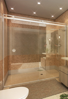 Box Light para Banheiro 1,90x1,90m 8mm Branco
