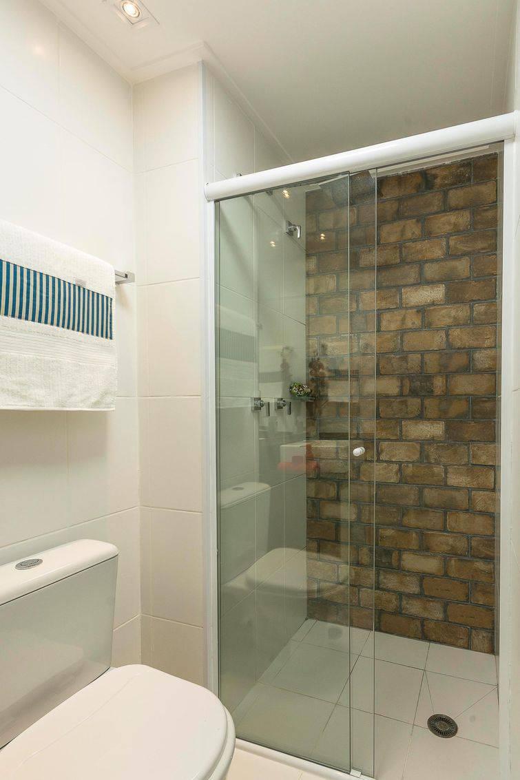 Box para banheiro em Vidro Temperado Frontal 120cm branco com vidro incolor