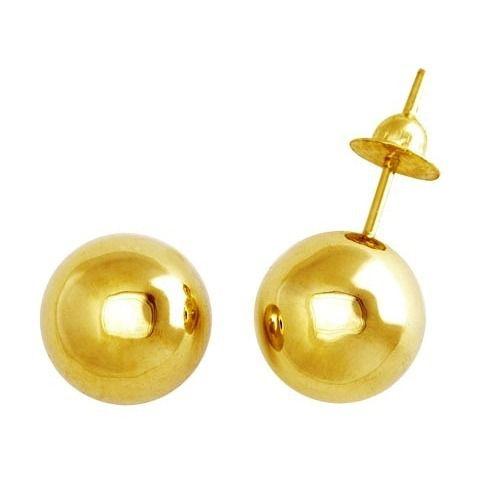 Brinco bola em ouro 18k - 10mm