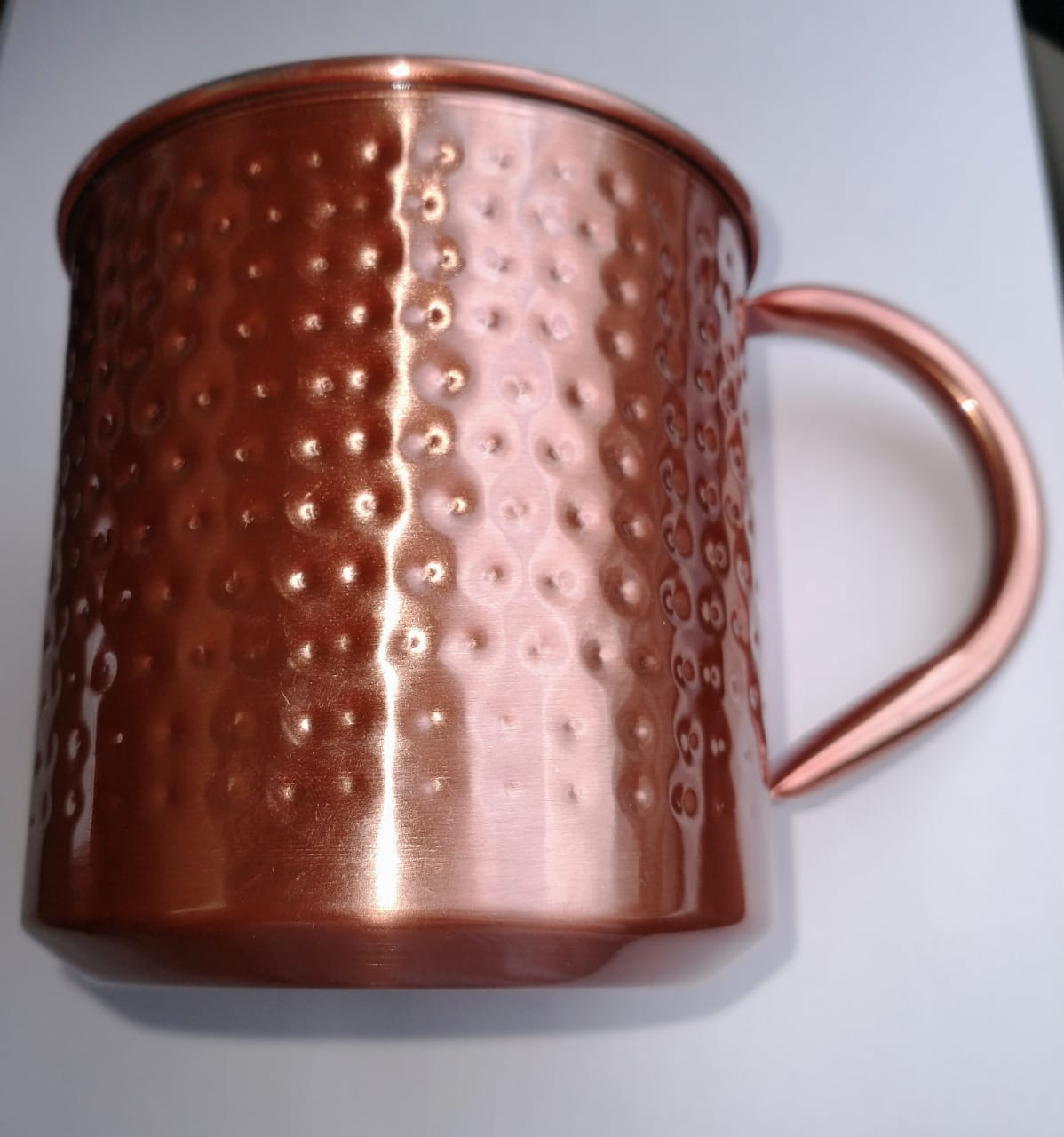 Caneca Moscow Mule 500ml Inox Rosê Gold Drinks reta
