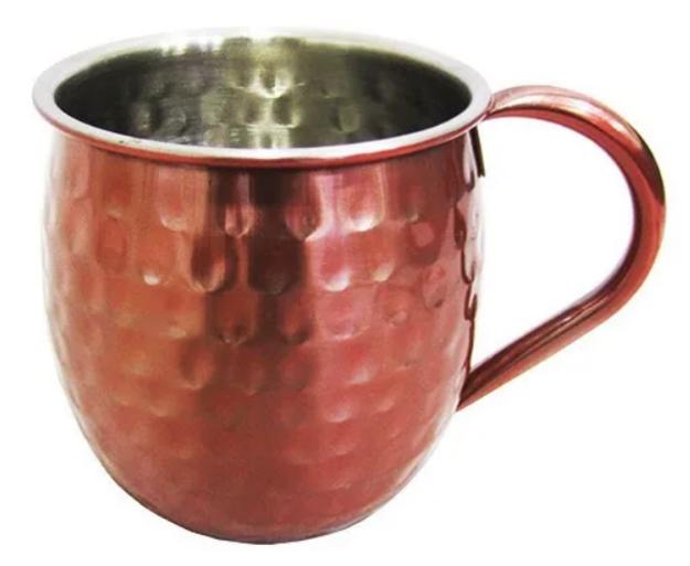 Caneca Moscow Mule 500ml Inox Rosê Gold Drinks