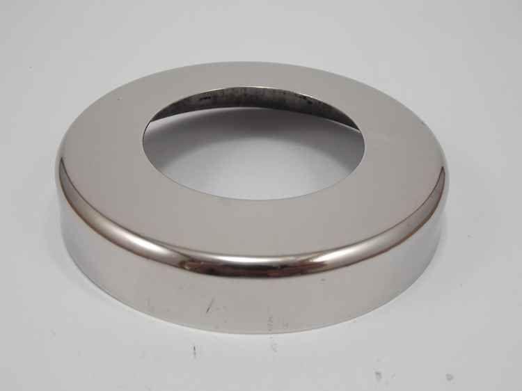 Canopla cromada redonda em aço inox polido 2 polegadas - 44un