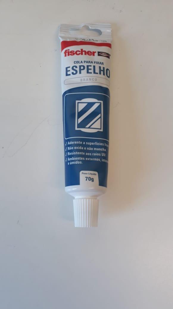 Cola para Fixar Espelho Branco Fischer 70gr