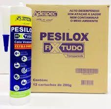 Cola pesilox fixtudo Adespec 280gr incolor caixa 12 unidades