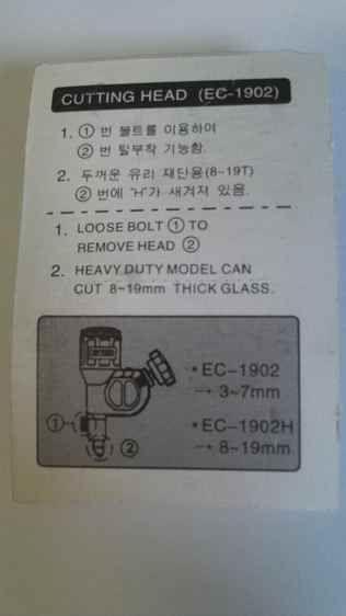 Reposição K star para cortador de vidros régua de corte T