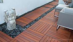 Deck De Madeira modulado 50X50cm - 4 unidades