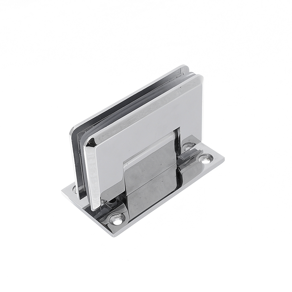 Dobradiça inox GV48 90º 1012 para porta de vidro e box - vidro/alvenaria