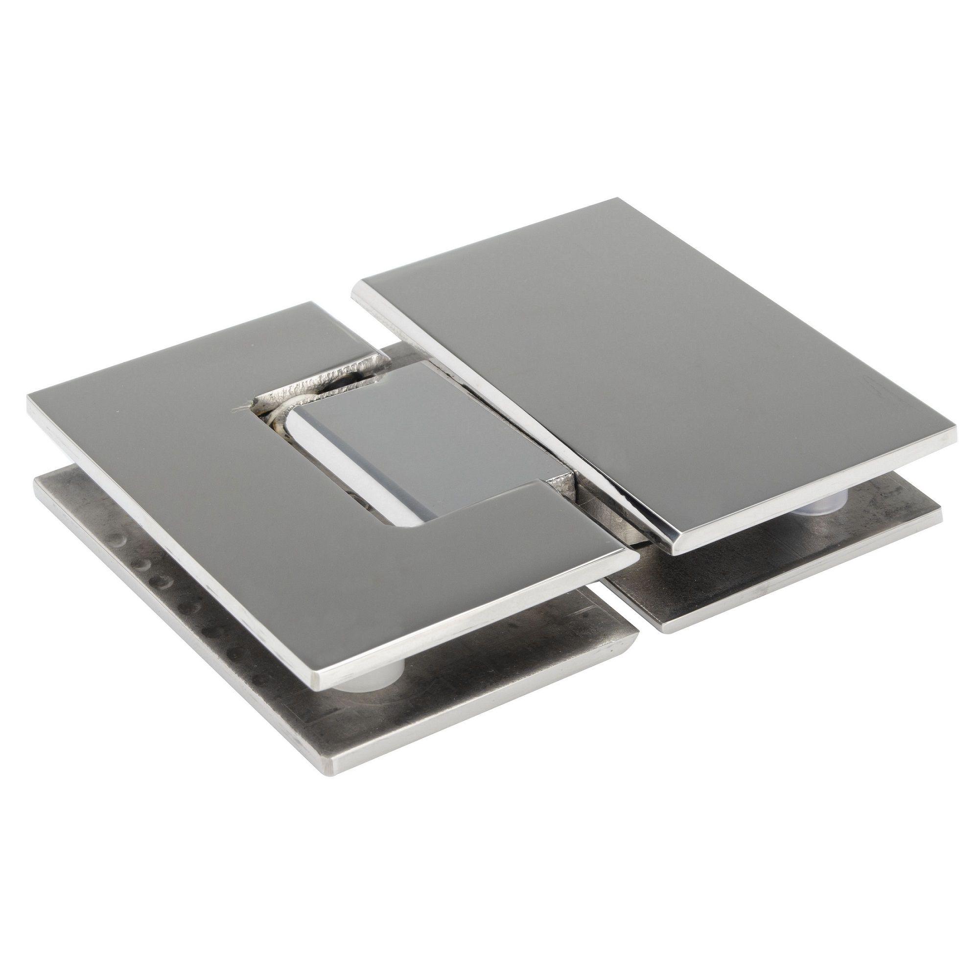 Dobradiça inox GV48 180°1010 para porta de vidro e box - vidro/vidro