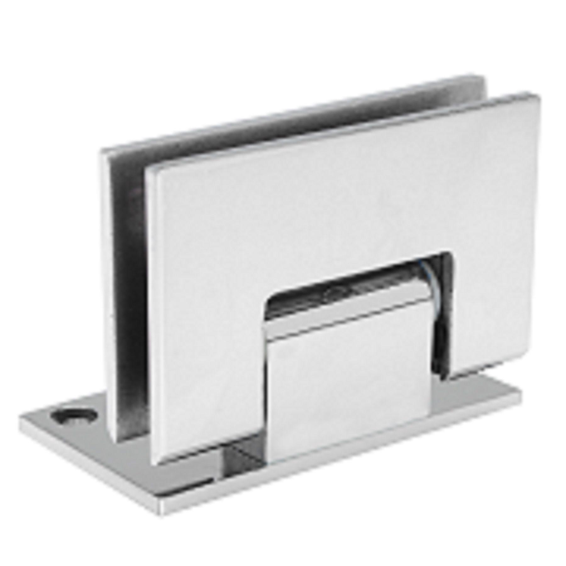 Dobradiça inox GV48 90º 1011 para porta de vidro e box - alvenaria/vidro 2 un