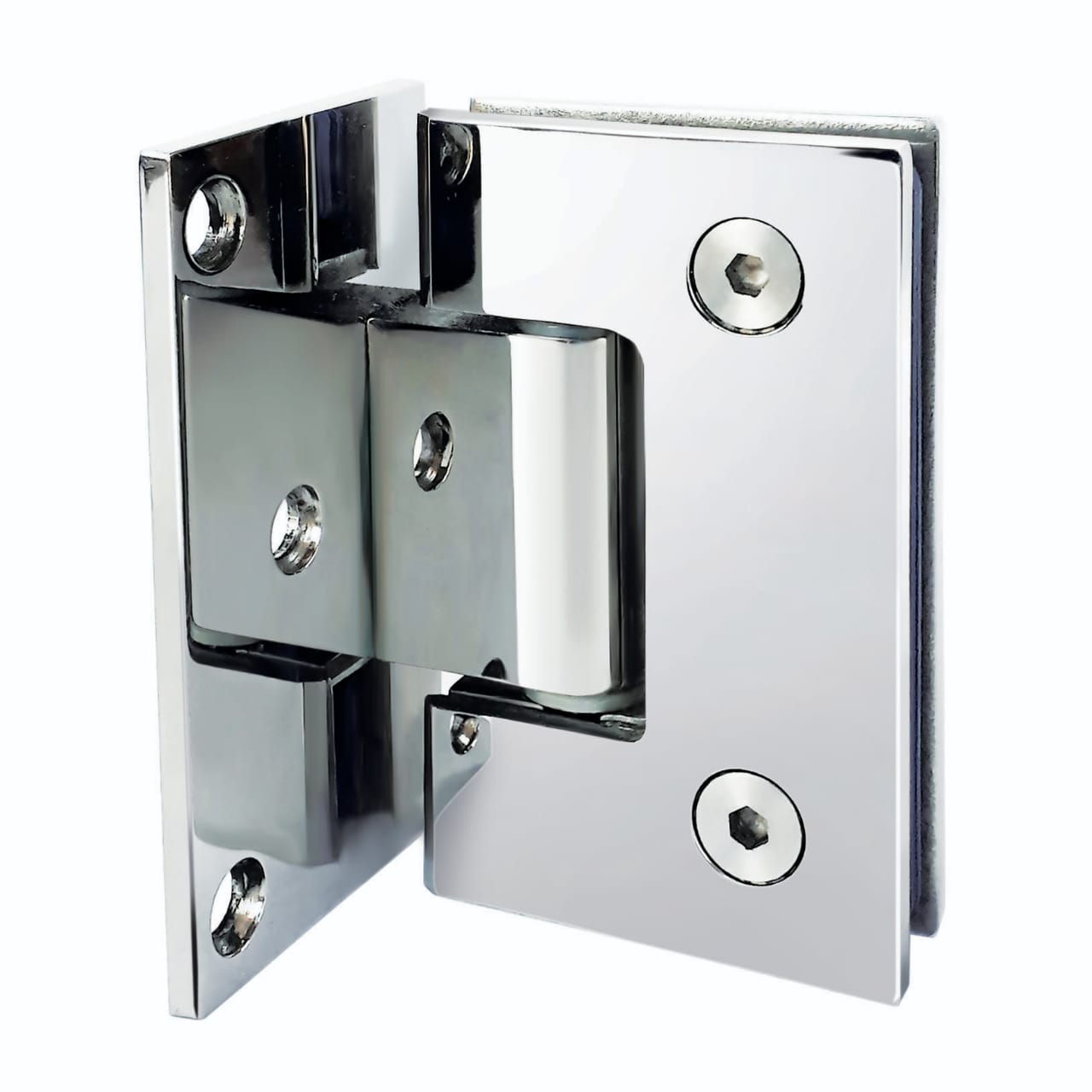Dobradiça inox GV48 90º 1012 para porta de vidro e box - vidro/alvenaria 10 un