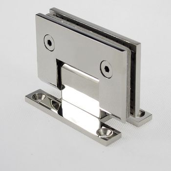 Dobradiça inox GV48 90º 1012 para porta de vidro e box - vidro/alvenaria 2un