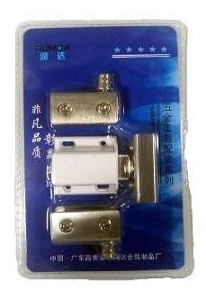 Dobradiça inox para rack com porta de vidro de 4 a 8mm com imã