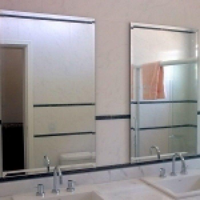 Espelho banheiro lapidado Bisotê 40x50cm Com Pendurador