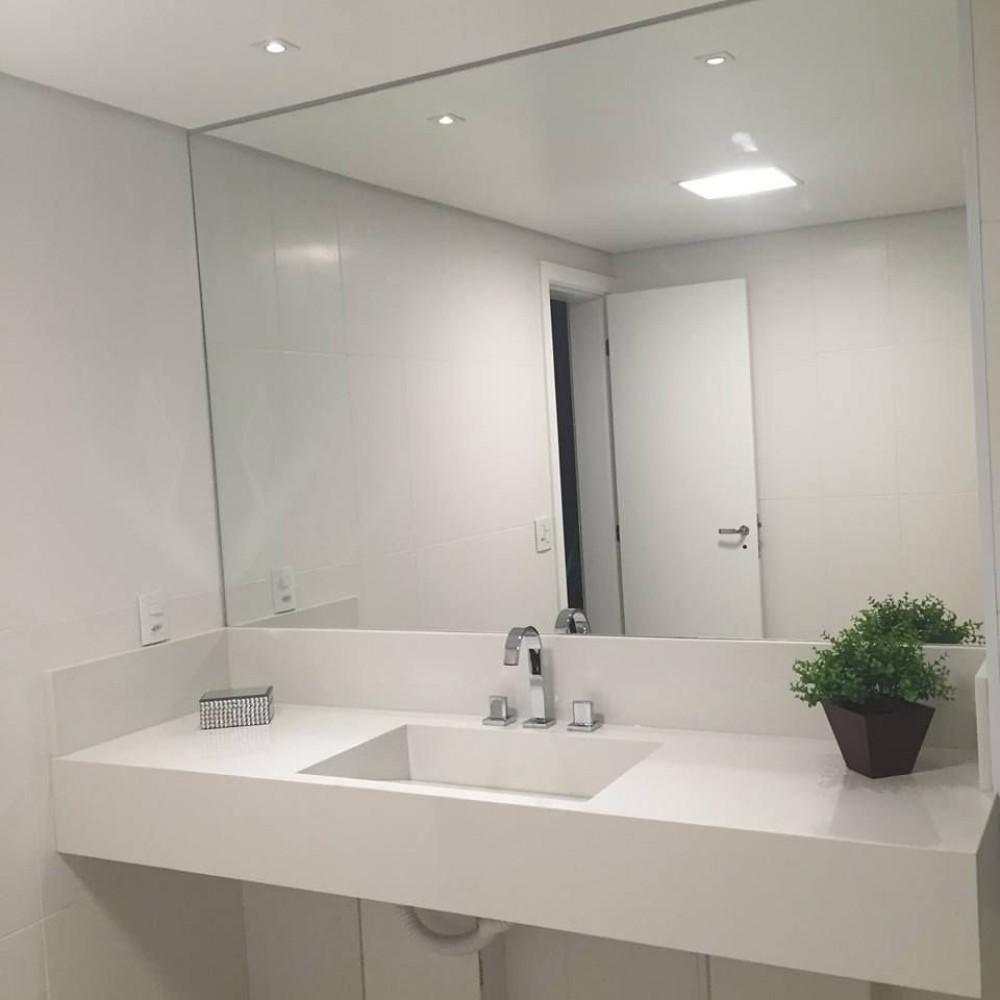 Espelho banheiro lapidado Bisotê 60x60cm Com Pendurador