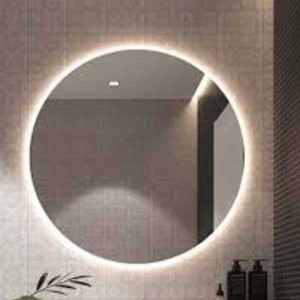 Espelho com led quente neutro redondo 50cm