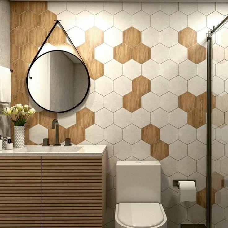 Espelho Decorativo adnet marrom com alça marrom 50cm