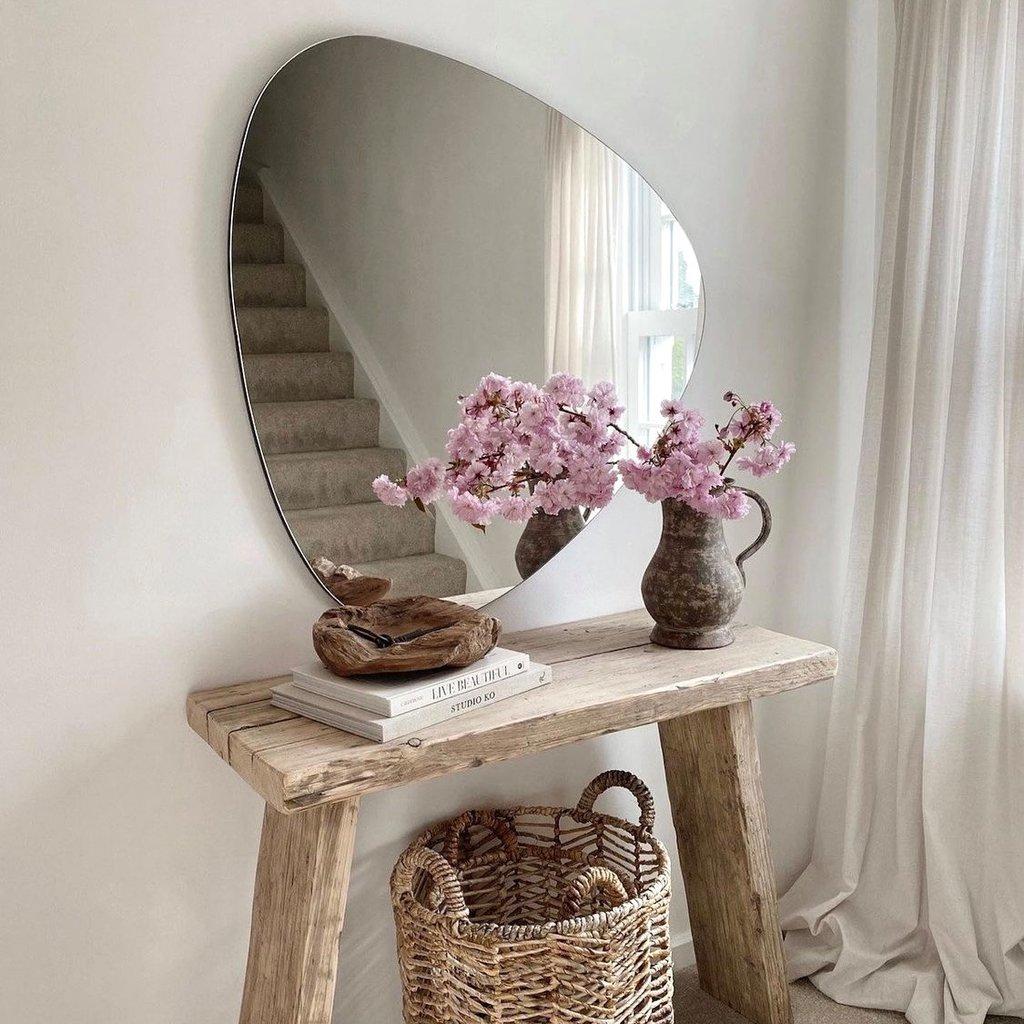 Espelho Decorativo Orgânico Lapidado 60x50cm