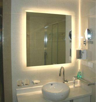 Espelho lapidado bisotê Iluminado com LED neutro - 70x80cm