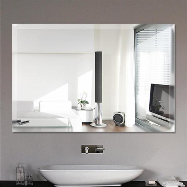 Espelho lapidado Bisotê autoadesivo dupla face 40x50cm