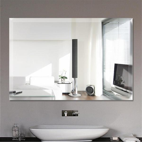 Espelho lapidado Bisotê autoadesivo dupla face 40x60cm