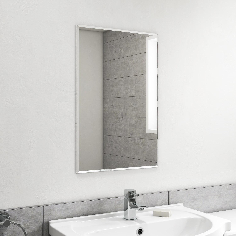 Espelho lapidado Bisotê autoadesivo dupla face 50x50cm