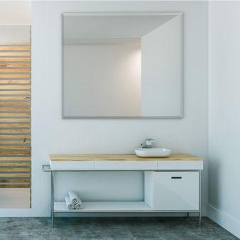 Espelho Lapidado Com Bisotê - 100x100cm