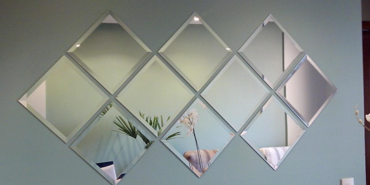 Espelho Bisotê  painel de espelho - 30x30cm 4 unidades